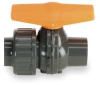 Ball Valve,1 1/2 In Socket,PVC,EPDM Seal -- 6NC51