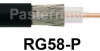 Flexible RG58-Plenum Coax Cable 0.163 Diameter With Single Shielded FEP Jacket -- RG58-P