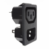 Power Entry Connectors - Inlets, Outlets, Modules - Unfiltered -- 708-1356-ND
