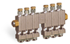 "Multiple Sight Feed Valve, 6 Valves, 1/8"" Female NPT Inlet, (6) 1/8"" Female NPT Outlets -- YB4689-06 (Formerly B3150-6-S02) -Image"