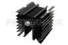 3 dB Fixed Attenuator, N Male to N Female Directional Black Anodized Aluminum Heatsink Body Rated to 300 Watts Up to 1,000 MHz -- PE7031-3 -Image