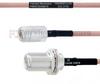 N Female to N Female Bulkhead MIL-DTL-17 Cable M17/60-RG142 Coax in 100 cm -- FMHR0012-100CM -Image