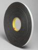 3M 4466 Black Foam Mounting Tape - 48 in Width x 36 yd Length - 1/16 in Thick - 23734 -- 051115-23734 -- View Larger Image