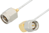 SMA Male to SMA Male Right Angle Cable 6 Inch Length Using PE-SR047FL Coax -- PE34197-6 -- View Larger Image