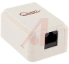 Box; White; Surface Mount; Single; For CAT 6 cable -- 70121195 - Image