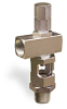 "Angle Heavy Duty Sight Feed Valve, 1/2"" Female NPT Inlet, 1/2"" Male NPT Outlet, Tamperproof -- B1284-6 -Image"