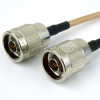 N Male to N Male Cable RG-142 Coax in 60 Inch and RoHS Compliant -- FMC0101143LF-60 -Image