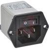 POWER ENTRY MODULE, 1U HEIGHT POWER, 15A, 2 LOAD TERMINALS, 2 MOUNTING HOLES -- 70185954