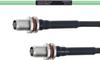 Temperature Conditioned Low Loss TNC Female Bulkhead to TNC Female Bulkhead Cable LL160 Coax in 100 cm -- FMHR0210-100CM -- View Larger Image