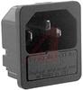 Fuseholder; 250 VAC; 5 x 20 mm; 1/1.5/2/2.5/3 mm; Panel Mount; -25 to degC -- 70080636 - Image