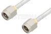 SMA Male to SMA Male Cable 6 Inch Length Using PE-SR402FL Coax, RoHS -- PE3481LF-6 -Image