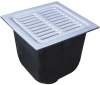 12 in. Square x 10 in. Deep Sanitary Floor Sink -- FS-750 -- View Larger Image