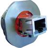 connector,metal circ,panel mount recept,rj45 to rj45,transversal seal,black fin -- 70026559