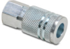 Air Coupling: quick-disconnect, steel, 1/4in ID 1/4in female NPT -- HC14-14F-A - Image