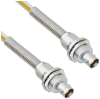Teflon Jacket Cable Assembly TRB Insulated Bulk Head 3-Lug Cable Jack to Jack with Bend Relief .236