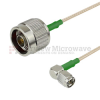 N Male to RA SMA Male Cable RG-316 Coax in 48 Inch and RoHS -- FMC0104315LF-48 -Image