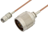 Reverse Polarity SMA Male to N Male Cable 24 Inch Length Using RG178 Coax, RoHS -- PE35223LF-24 -- View Larger Image