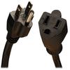 Power Extension Cord, 13A, 16AWG (NEMA 5-15P to NEMA 5-15R) 1-ft. -- P024-001-13A