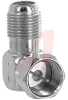 Adapter; F; Right Angle; Machined Brass; Gold; 75 Ohms; 0.919 in.; 0.76 in. -- 70197194