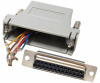 DB25 Female to RJ45 Modular Adapter -- 31D3-B2 -- View Larger Image