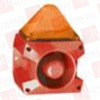 PFANNENBERG 23351804000 ( 5 JOULES FLASHING STROBE BEACON WITH 80 TONE, 4-STAGE SOUNDER, 105 DB (A), 18 - 30 VDC, RED HOUSING, AMBER LENS ) -- View Larger Image