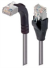 Shielded Category 6 Right Angle Patch Cable, Straight/Right Angle Up, Gray, 2.0 ft -- TRD695SRA2GRY-2 -Image