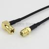 SMA Female to RA SMB Plug Cable RG174 Coax in 48 Inch -- FMC1326174-48 -Image