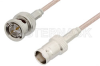75 Ohm BNC Male to 75 Ohm BNC Female Cable 48 Inch Length Using 75 Ohm RG179 Coax, RoHS -- PE33443LF-48 -- View Larger Image