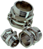 Nickel-Plated Brass Cable Clamp with Single Saddle Clamp and PG Thread -- SKINDICHT® SH - Image