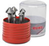 Countersink Bit Kit: heavy duty HSS, 0.409 to 0.984 in. diameter, 6-pc -- 102153 - Image