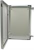 24x16x9 Inch Weatherproof NEMA 4X Enclosure with Blank Non-Metallic Mounting Plate -- NBG241609-KIT01 -Image
