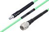Temperature Conditioned SMA Female to TNC Male Low Loss Cable 100 cm Length Using PE-P142LL Coax -- PE3M0138-100CM -Image