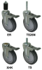 Stem - Swivel Caster with Total Locking Brake - Model 3A -- 3ARF3X-ML