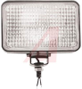 Lamp, Halogen Swivel Mount, 3x5, Wide Flood 50ft X 30ft, 12Vdc, 50 Watts, 4 Amps -- 70111525