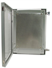 24x16x9 Inch Weatherproof NEMA 4X Enclosure with Blank Aluminum Mounting Plate -- NBG241609-KIT -- View Larger Image