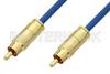 75 Ohm RCA Male to 75 Ohm RCA Male Cable 12 Inch Length Using 75 Ohm PE-B159-BL Blue Coax -- PE38133/BL-12 -Image