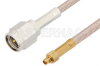 SMA Male to MMCX Plug Cable 12 Inch Length Using RG316 Coax -- PE34122-12 -Image