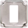HUBBELL SQUARE COVER 4 IN EXPOSED WORK 1 GFCI RECEPTACLE -- IBI458556