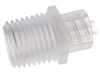 Adapter, polypropylene, male luer lock to 1/4-18 thread, 25/pack -- GO-45518-88