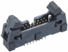 8+8 Pos. Male DIL Vertical Throughboard Conn. with Ejector -- M50-3550842