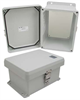 8x6x4 Inch UL® Listed Weatherproof NEMA 4X Enclosure with Blank Non-Metallic Mounting Plate -- NB080604-KIT01 -Image