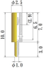 Medium Size Socket Pin -- PDK1565-100-GG -Image