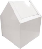 WASTE RECEPTACLE METAL DOUBLE SWING WHITE -- HOS02201