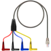 (2) R/A Shrouded Banana-RJ45 Wired 1,2,7,8-6ft -- TC-3009/6 - Image