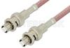 SHV Plug to SHV Plug Cable 60 Inch Length Using RG142 Coax, RoHS -- PE3843LF-60 -Image