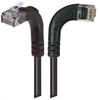 Category 5E LSZH Right Angle Patch Cable, Right Angle Right/Right Angle Up, Black, 25.0 ft -- TRD815ZRA12BLK-25 -Image