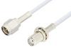 SMA Male to SMA Female Bulkhead Cable 12 Inch Length Using RG188 Coax -- PE3051-12 -Image