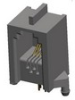 Input-Output Connectors, Modular Jack Series, Modular Jack, Single Port, Modular Jack Single Port, Horizontal, Height (Above board)=Standard -- 66010-004LF