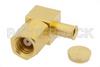 SMC Plug Right Angle Connector Clamp/Solder Attachment For PE-SR405AL, PE-SR405FL, RG405 -- PE4359 -Image