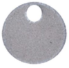 Cable Tie Marker Disc 1 Hole Natural Stainless Steel -- 07498333620-1 - Image